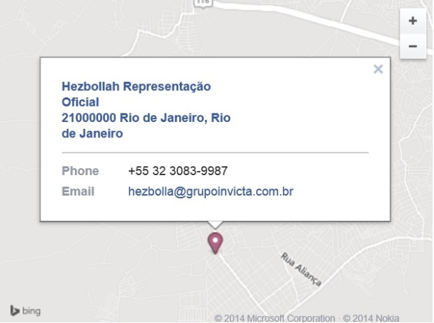 hezbollah Office in Brasil