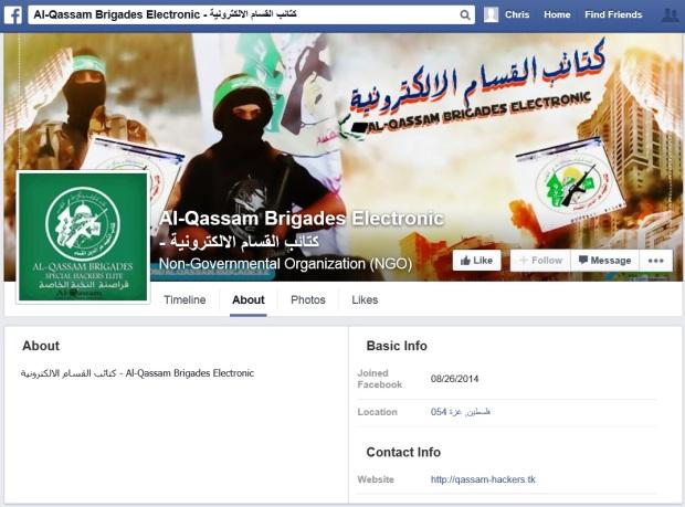 Al Qassam Electronic Brigade FB Header