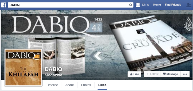 Dabiq on Facebook