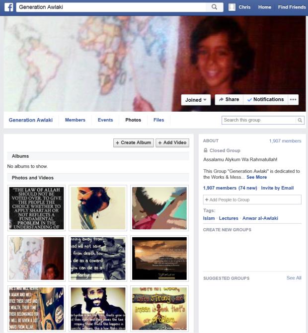 Generation Awlaki Facebook