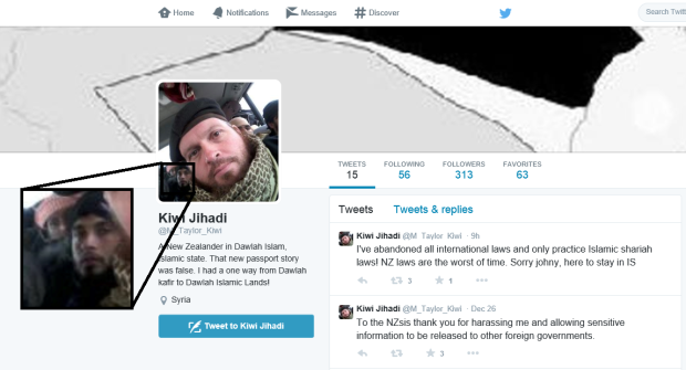 Kiwi Jihadi - Mark Taylor - Twitter Photo Update