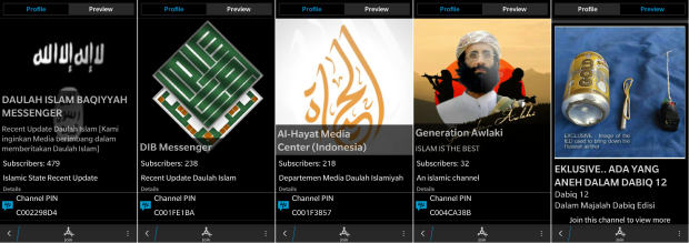 ISIS on Blackberry Channels